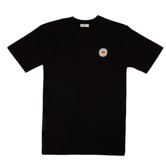 eo circle logo black tee