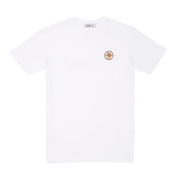 eo circle logo white tee