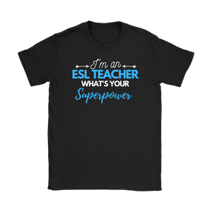 I'm an ESL Teacher blue