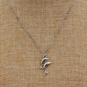 Retro Dolphin Pendant Necklace
