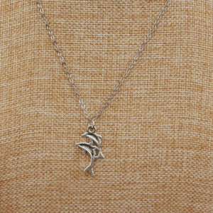 Double Dolphin Chain Necklace