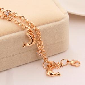 Golden Plated Mini Dolphin Bracelet