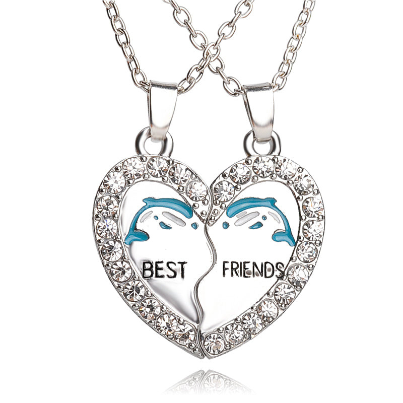 Best Friends Dolphin Necklace