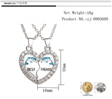 Load image into Gallery viewer, Best Friends Dolphin Necklace