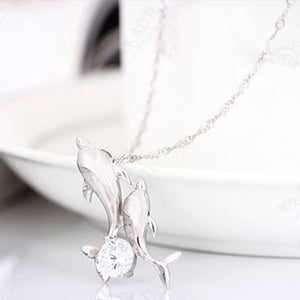 Exquisite Double Dolphin Pendant