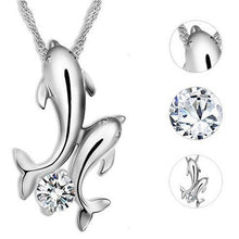 Load image into Gallery viewer, Exquisite Double Dolphin Pendant