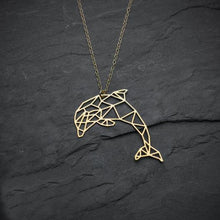 Load image into Gallery viewer, Geometric Dolphin Pendant