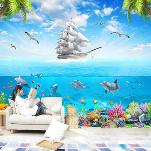 Underwater World Dolphin 3D Walpaper