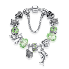 Load image into Gallery viewer, Dolphin Tortoise Charm Bracelet