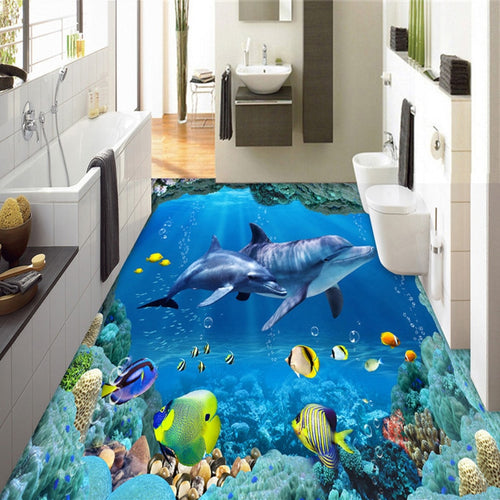 Three Dimension Dolphin Floor Tiles