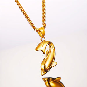 Dolphin Necklace With Stainless Steel Pendant