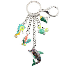Load image into Gallery viewer, Dolphin Alloy Key Chain