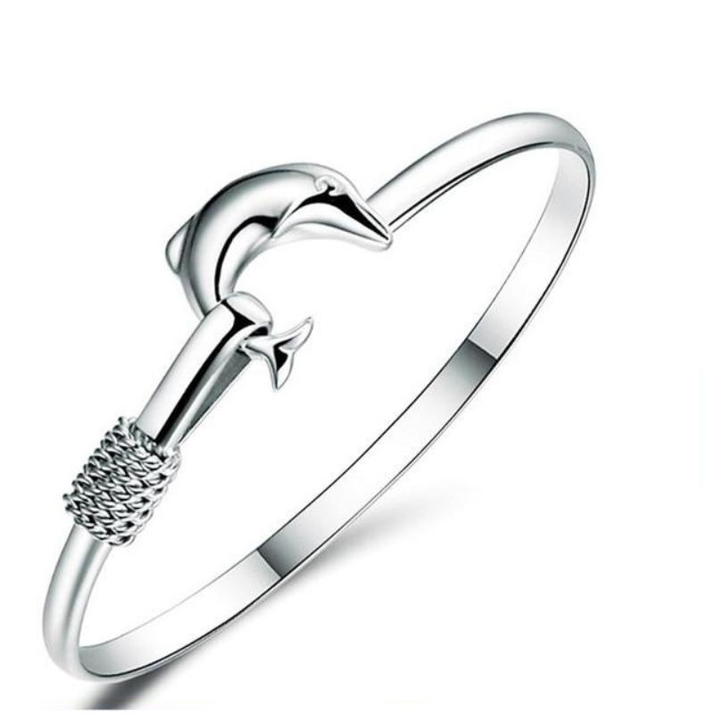 Dolphin Love Bangle