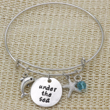 Load image into Gallery viewer, Adjustable Alloy Pendant Bangle