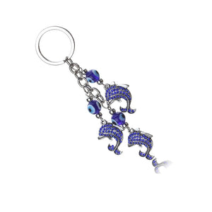 Evil Eye And Dolphin Key Chain