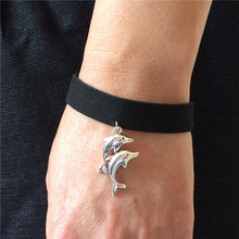 Load image into Gallery viewer, Vintage Retro Dolphin Bracelet