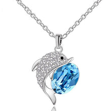 Load image into Gallery viewer, Big Crystal Dolphin Necklace