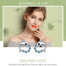 Load image into Gallery viewer, Dolphin Love Ball Earrings