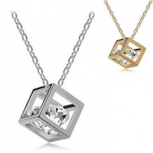 Load image into Gallery viewer, Crystal Fashion Cube Dolphin Necklace