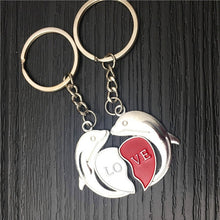 Load image into Gallery viewer, Dolphin Couple Key Chain