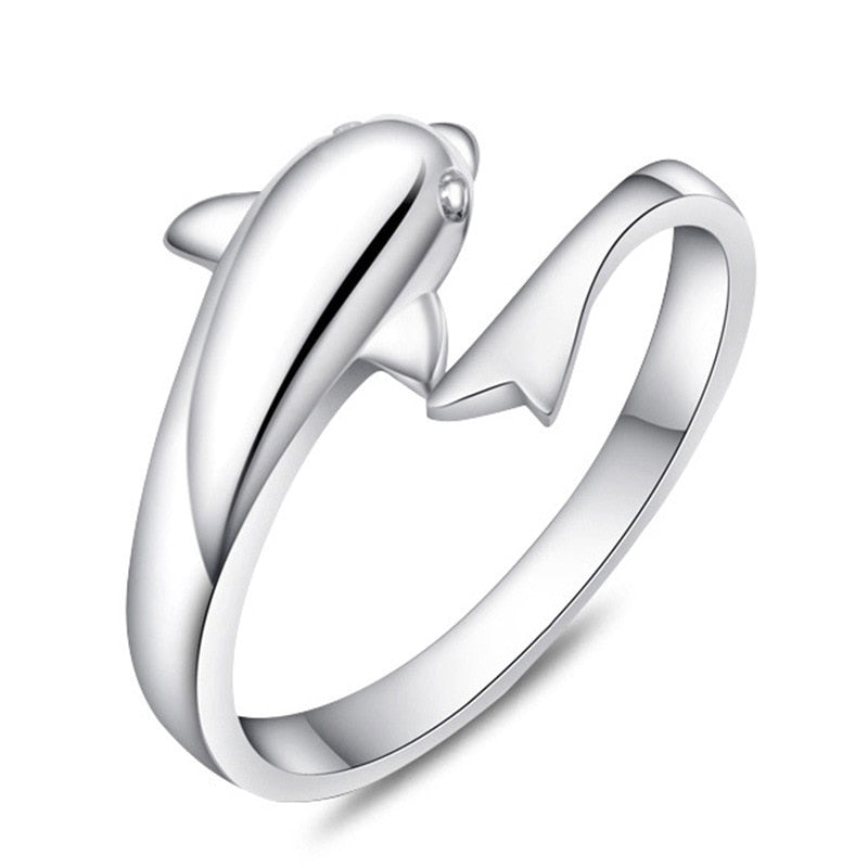 High Quality Adjustable Dolphin Ring