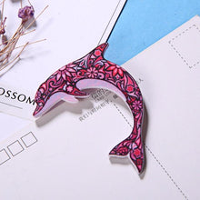 Load image into Gallery viewer, Acrylic Dolphin Collar Pin