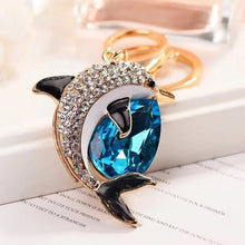Load image into Gallery viewer, Rhinestone Dolphin Key Chain