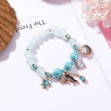 Load image into Gallery viewer, Crystal Dolphin Bracelet