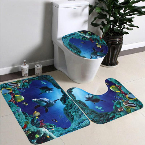 Dolphin Bathroom Toilet Mat