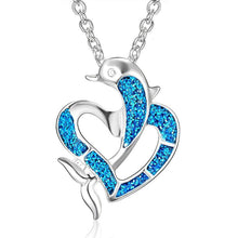Load image into Gallery viewer, Fashion Silver Filled Blue Dolphin