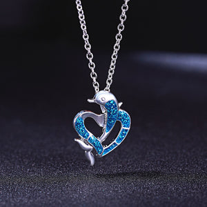 Fashion Silver Filled Blue Dolphin