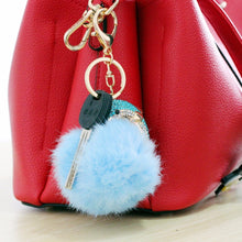 Load image into Gallery viewer, Fur Ball Dolphin Key Chain