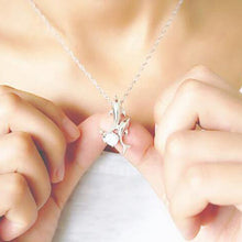 Load image into Gallery viewer, Simple Style Dolphin Crystal Necklace