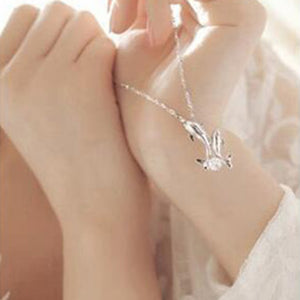 Simple Style Dolphin Crystal Necklace