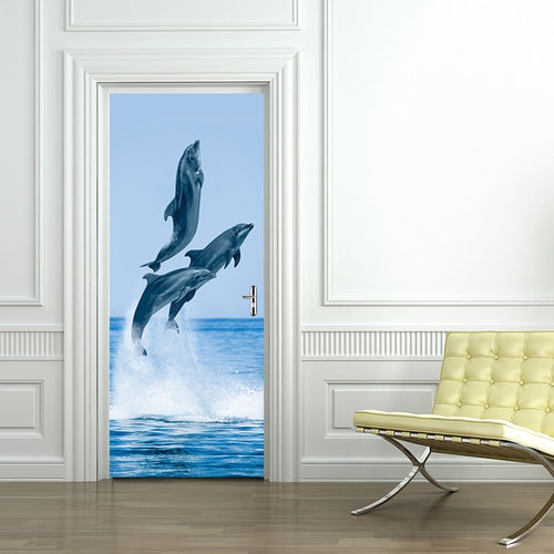 Self Adhesive Dolphin Door Sticker