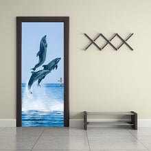 Load image into Gallery viewer, Self Adhesive Dolphin Door Sticker