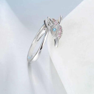 Sparkling Dolphin Ring