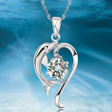 Load image into Gallery viewer, Romantic Dolphin Pendant