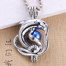 Load image into Gallery viewer, Marine Life Dolphin Cage Pendant
