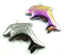 Load image into Gallery viewer, Hematite Dolphin Pendant