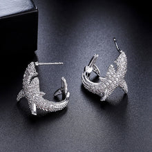Load image into Gallery viewer, Crystal Dolphin Earrings