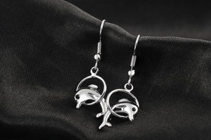Zirconia Crystal Dolphin Earrings