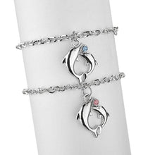 Load image into Gallery viewer, Couple Double Dolphin Bracelet