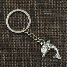 Load image into Gallery viewer, Antique Silver Plated Dolphin Key Chain