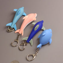 Load image into Gallery viewer, Mini Dolphin LED Light Key Chain