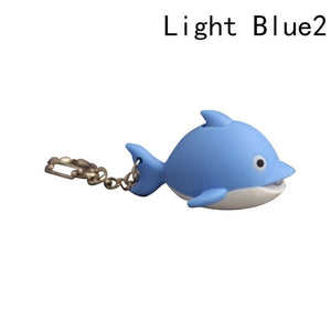 Mini Dolphin LED Light Key Chain