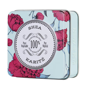 La Chatelaine tinned travel shea butter soap, made in France.