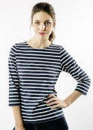 Load image into Gallery viewer, Saint James Galathee II striped top - marine/neige