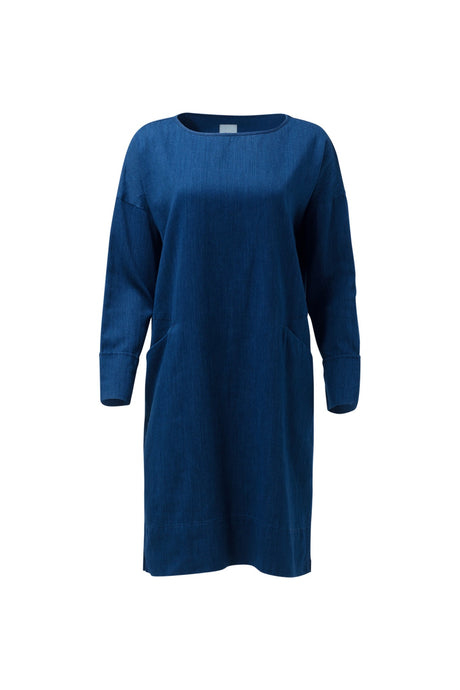 Karrie tunic cress from Elk in organic cotton and hemp, denim look chambray.