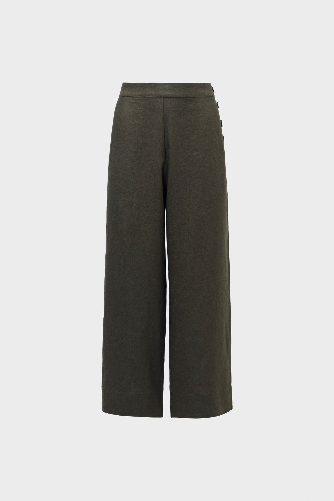 Elk Halvi linen pants in olive.